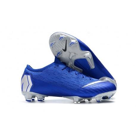 New Nike Mercurial Vapor 12 Elite FG Cleats Blue Silver