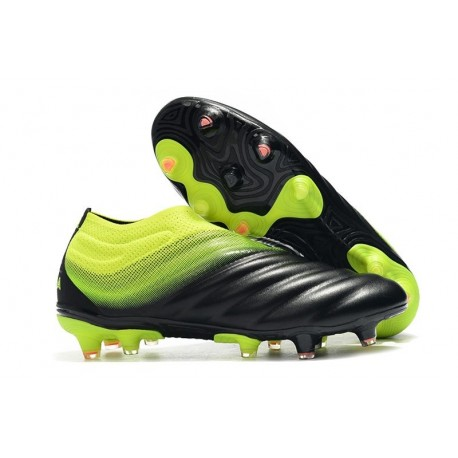 adidas Copa 19+ FG Firm Ground Soccer Cleats - Black Green