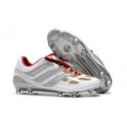 adidas Predator Accelerator FG Soccer Cleats - Silver Red Black