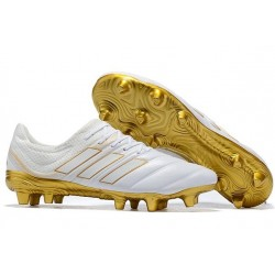 New Adidas Copa 19.1 FG Soccer Boots - White Gold