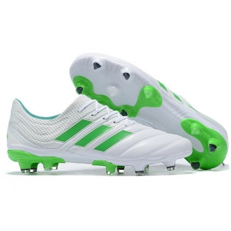 New Adidas Copa 19.1 FG Soccer Boots - White Green