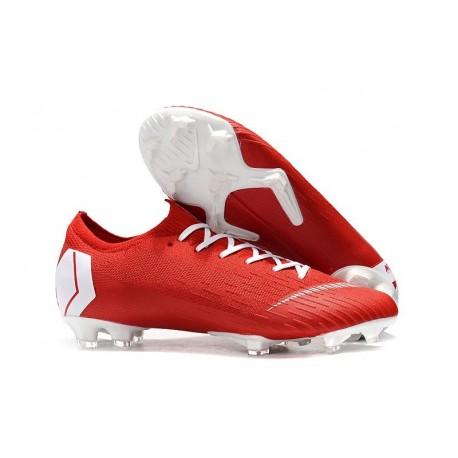 New Nike Mercurial Vapor 12 Elite FG Cleats Red White