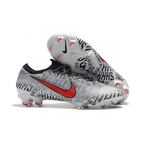 Neymar Nike Mercurial Vapor 12 Elite FG Cleats White Red Black