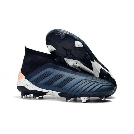 adidas New Predator 18+ FG Soccer Cleats Cyan Black