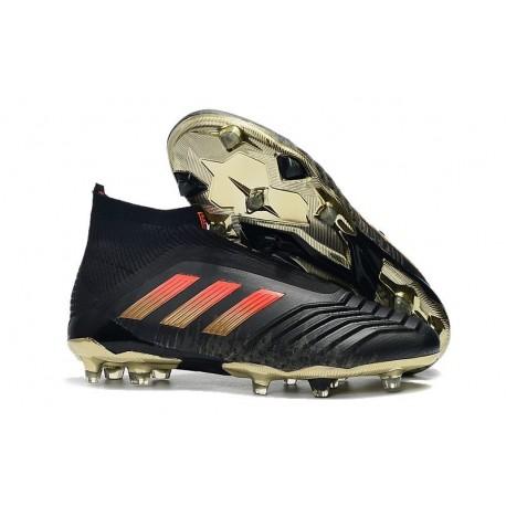 adidas New Predator 18+ FG Soccer Cleats Black Red Gold