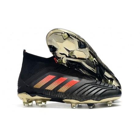 adidas Predator 18.1 Mens FG Football Boots Black Red