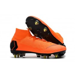 Nike Mercurial Superfly VI Elite Anti-Clog SG-Pro Boots Orange Black