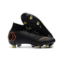Nike Mercurial Superfly VI Elite Anti-Clog SG-Pro Boots Black Orange