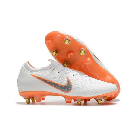 Nike Mercurial Vapor XII Elite Anti-Clog SG-Pro White Orange