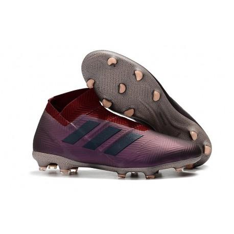 New Adidas Nemeziz 18+ FG Soccer Boots - Purple Red