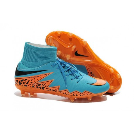 filete máscara tarta  New 2015 Soccer Cleats Nike Hypervenom Phantom II FG ACC Blue Orange Black