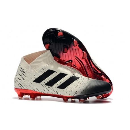 New Adidas Nemeziz 18+ FG Soccer Boots - White Black Red