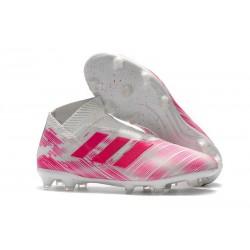 New Adidas Nemeziz 18+ FG Soccer Boots - Pink White