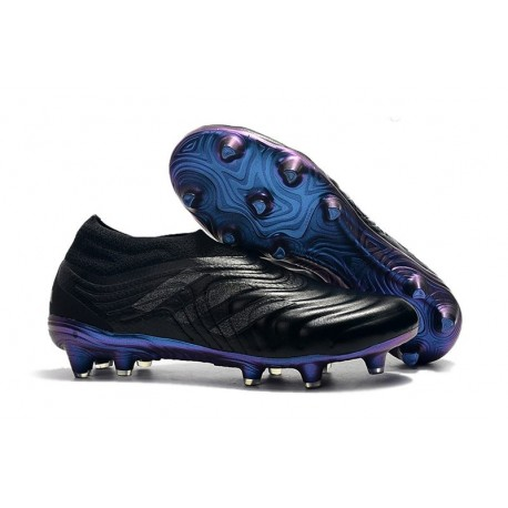 adidas Copa 19+ FG Firm Ground Soccer Cleats - Black Blue