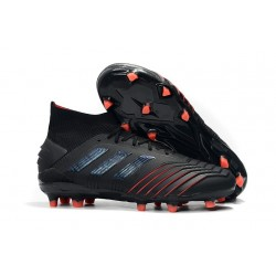 adidas Predator 19.1 FG Soccer Cleat Black Red