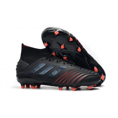 adidas Predator 19.1 FG Soccer Cleat Black Red