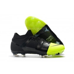 Nike Mercurial Greenspeed 360 FG Cleats Black Metallic Silver Volt