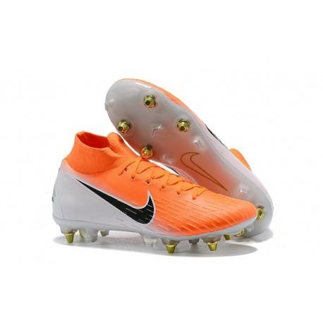 Nike Mercurial Superfly 6 Elite AC SG-Pro Cleats - Orange White