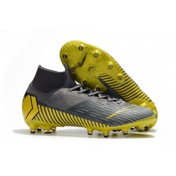 Nike Mercurial Superfly VI 360 Elite AG-Pro Cleats Gray Gold