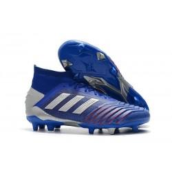 adidas Predator 19.1 FG Soccer Cleat Blue Silver