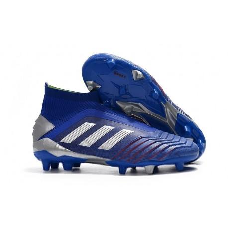adidas Predator 19+ FG Firm Ground Boots - Blue Silver